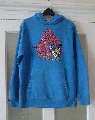 Boy's Next blue Angry Birds hoodie sweater top, Age 11yrs