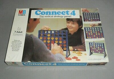 Connect 4 Four Fun Family Vertical Strategy MB Board Game 1976 COMPLETE VGC RARE