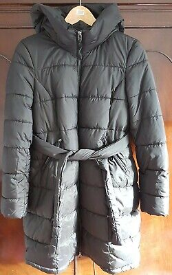 H&M Mama Maternity Padded Hooded Jacket Black Pristine Condition