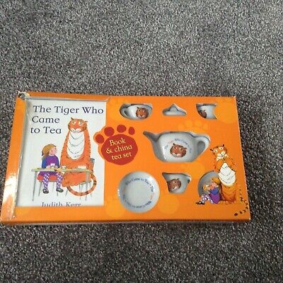The Tiger Who Came To Tea, Hard Back Book And China Tea Set by Judith Kerr.