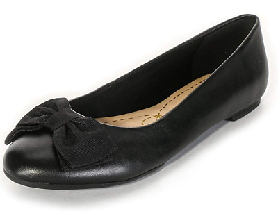 New Clarks Women's Alicia Allie Ballet Pumps Black Leather Size 5.5 RRP £49