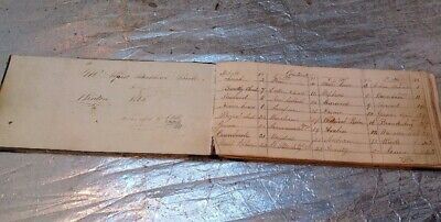 Antique Hand Written Music Book 1863 - Old Music & Places ? Very Interesting