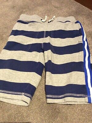 Mini Boden Boys' Striped Blue and Grey Shorts Size 12 Years VGC