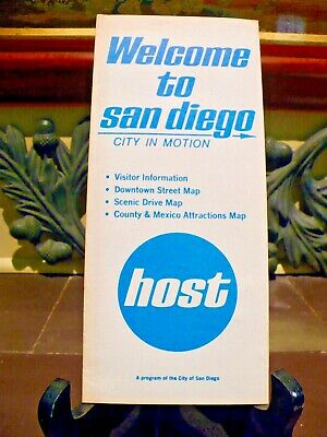 Vintage 1970's Brochure WELCOME TO SAN DIEGO California Visitor Information Maps