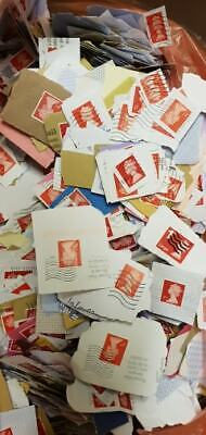 10000 Red Franked Used 1st Class Security Postage Stamps No Unfranked