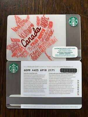 STARBUCKS '2014 CANADA MAPLE LEAF - #6099 - Gift Card - New - No Value