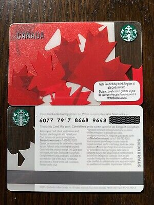 STARBUCKS '2012 CANADA MAPLE LEAF - #6077 - Gift Card - New - No Value