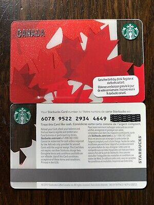 STARBUCKS '2012 CANADA MAPLE LEAF - #6078 - Gift Card - New - No Value
