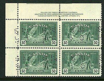 CANADA Scott O272 - NH - UL Plate 1 - 50¢ Perforated Lumbering (.007)