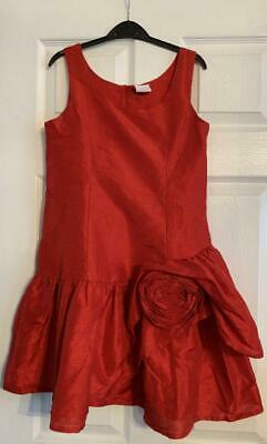 ** Next - Girls Red Dress  - Size 11 Years **