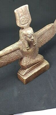 Ancient Egyptian Glazed Faience Winged Isis Statuette
