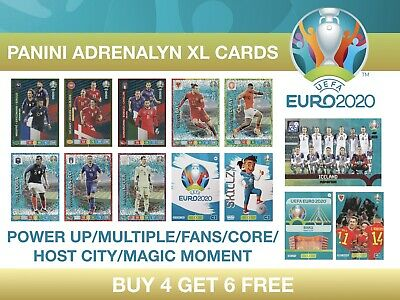 Panini UEFA Euro 2020 Adrenalyn XL POWER UP, MULTIPLE, FANS, CORE #388 - 468