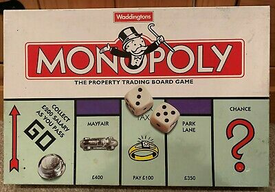 Vintage 1996 Monopoly Board Game By Waddingtons - Complete With Instructions