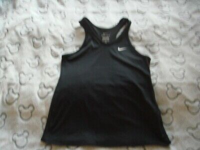 GIRLS BLACK Nike Dri-Fit vest Top SIZE medium