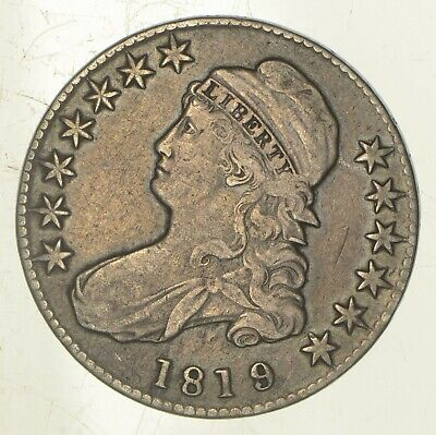 1819/8 Capped Bust Half Dollar - Small 9 *5922