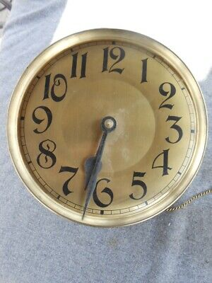 Vintage Gustav Becker PL 116  Ps60 Clock Weight Movement Parts or Repair