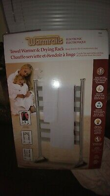Warmrails Towel Warmer FREE STANDING Drying Rack  Silver