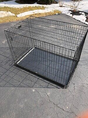 MidWest iCrate Dog Crate (48in x 30in x 33in) Black Model 1548 XL Extra Large