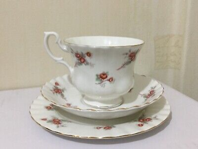 Richmond Pink Rose Time Tea cup saucer side plate trio