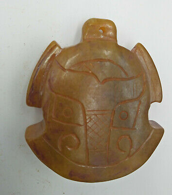 Exquisite Hand-carved old jade bell Pendant N206