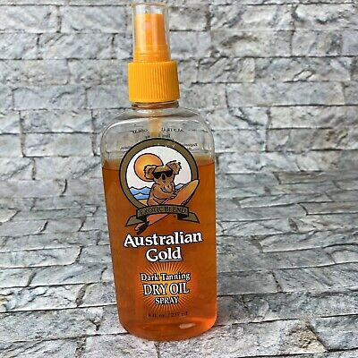 Vintage Australian Gold Dark Tanning Dry Oil Spray 8 oz