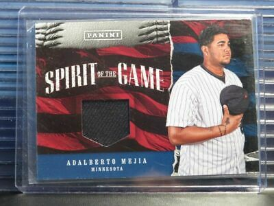 2017 Panini Father's Day Adalberto Mejia Spirit of the Game Jersey Relic DSR