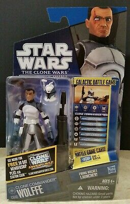 Star Wars The Clone Wars Cw48 Clone Commander Wolffe 2010 Listing Entire Series