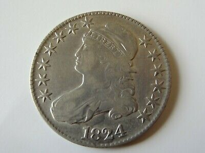1824 Capped Bust Half Dollar 50 Cent Coin