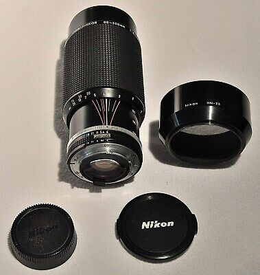 Nikon 80-200mm 1:4 Zoom-NIKKOR AI-S Full Format Manual focus lens Made in Japan
