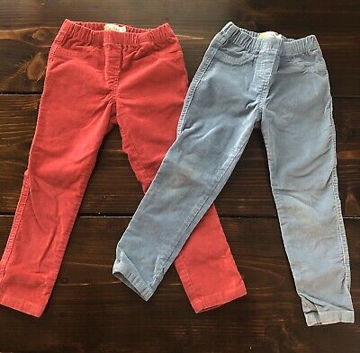 Mini Boden Girls Cordaroy Pants Lot of 2 Size 4 Years