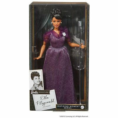 MATTEL Ella Fitzgerald Barbie Inspiring Women Series Limited New 2020 In Hand