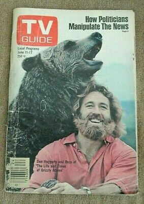 Tv Guide June 11 - 17 1977  Grizzly Adams
