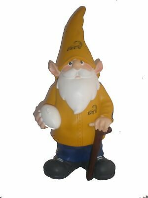 Parramatta Eels NRL Yellow Trackie Wearing Garden Gnome With Walking Cane