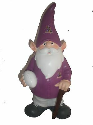 Melbourne Storm NRL Trackie Wearing Garden Gnome With Walking Cane