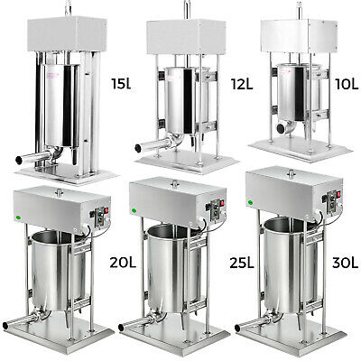 10-30L Sausage Filler Stuffer Maker Commercial 304 Stainless Steel Meat Machine