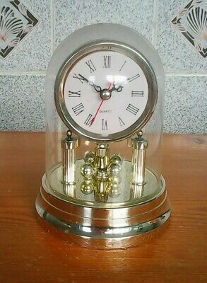 Clock domed mantle antique style quartz movement battery operated