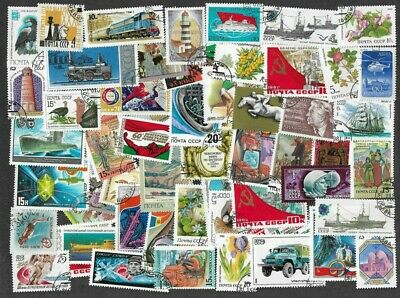Russia-100- all different stamps collection