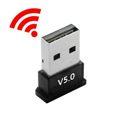 Mini Wireless USB Bluetooth 5.0 Dongle Stereo Receiver for Win 7 8 10 PC Laptop
