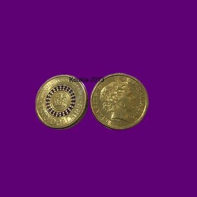 2013 $2 Two Dollar Queens Coronation Purple Stripe Coin