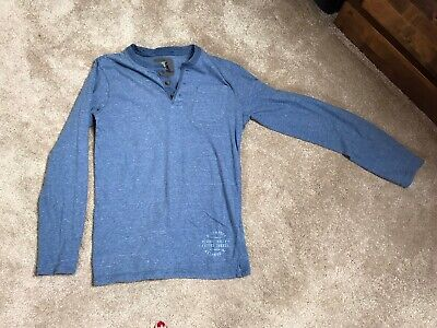 Boys H&M Collarless Shirt Blue- Hardly Worn