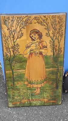GLASGOW SCHOOL (CIRCA 1900), SPRING, an art nouveau painted wood panel