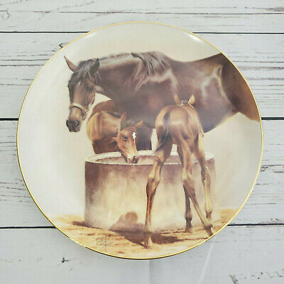 The Water Trough Fred Stone Horse Collector Plate American Artists 1985 #4391