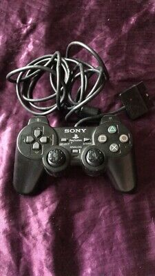 Sony PlayStation 2 PS2 Controller Game Pad Official Dualshock 2 Black Wired