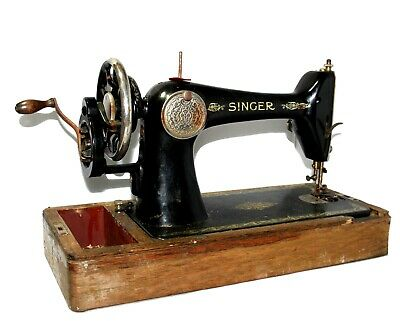 Antique 66k 1925 Singer Hand Crank Sewing Machine Y2679082