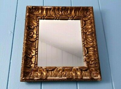 Mirror Georgian Glass With Wood Gesso Moulded Frame Made In Scotland