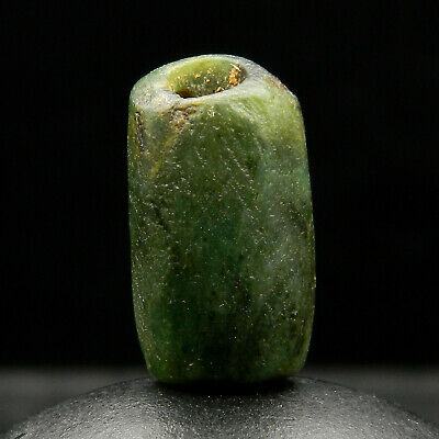 KYRA MINT - ANCIENT Serpentine BEAD - 19 mm long - Saharian NEOLITHIC