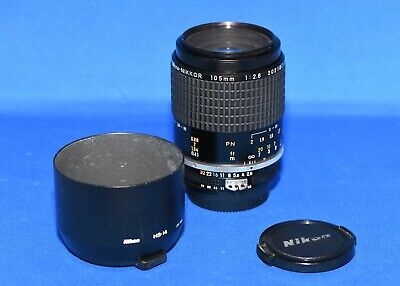 Nikon Micro NIKKOR 105mm f/2.8 Ai-S Lens with shade, Mint-