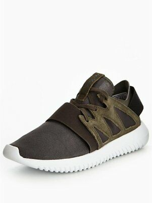 NEW Adidas Originals Tubular Viral W Trainers Grey Green Womens Girls Size 4