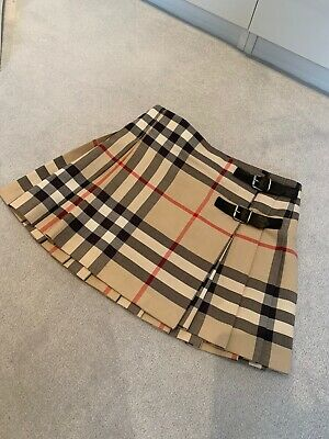 Girls Burberry Classic Beige Skirt with buckles Aged 8 Years 128cm