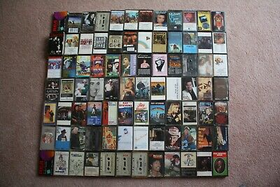 Vintage Lot of 83 - 1970s/80s Country and Rock Cassette Tapes + 2 blank New